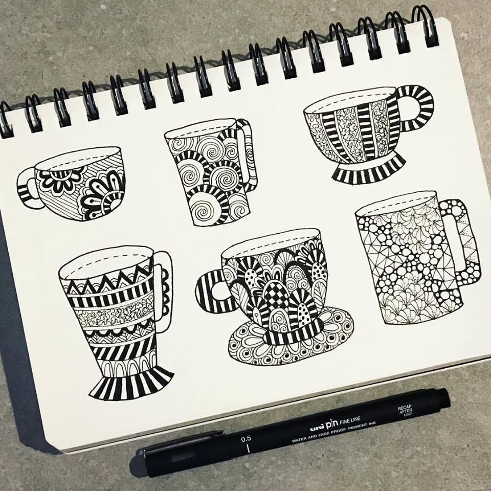 Tazi doodle cups
