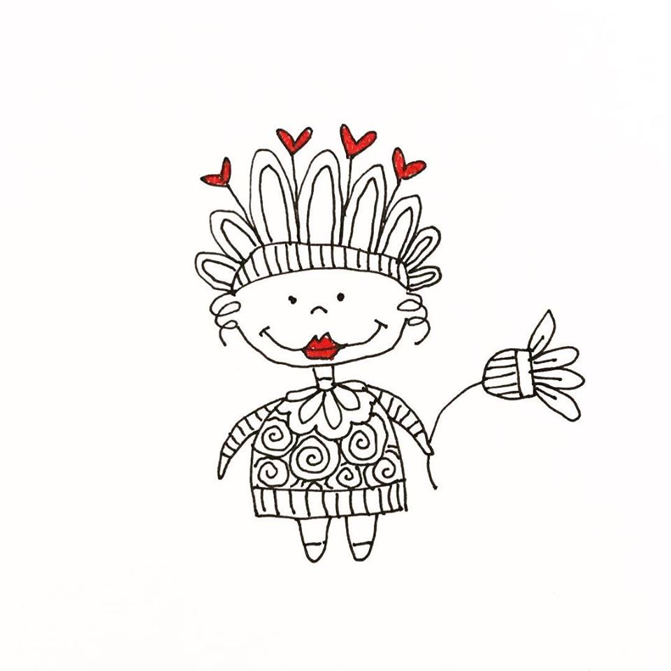 Tazi doodle girl