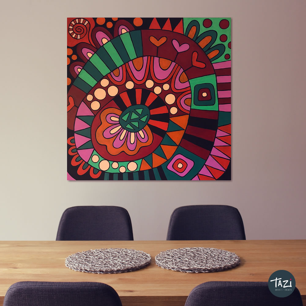 Tazi groovy-painting