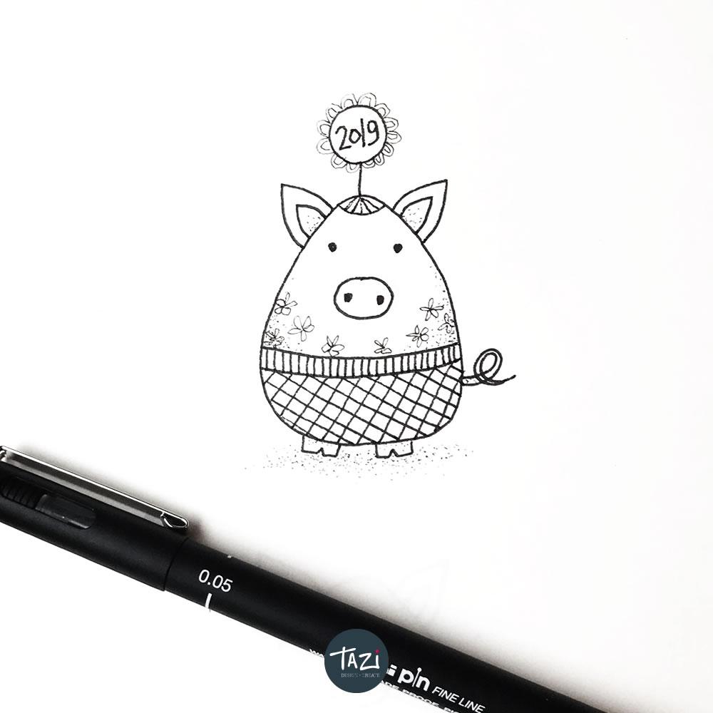 Tazi year-of-pig