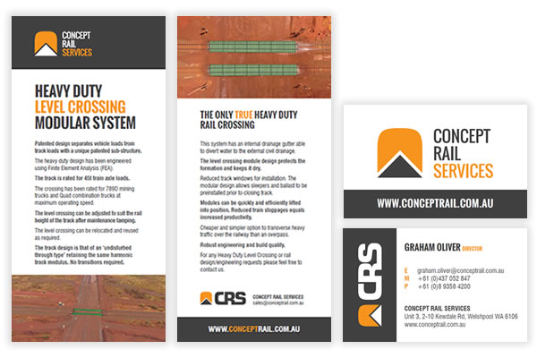 Concept Rail Marketing Collateral