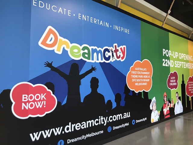 External Hoarding for Dreamcity Pop-Up