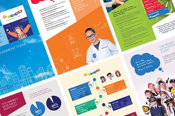 Dreamcity Marketing Collateral Design & Artwork