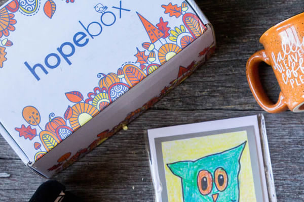 Hopebox Autumn Packaging Illustration