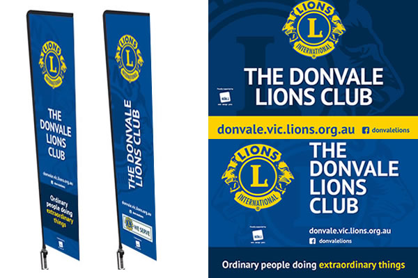 Lions Club Flag and Banners
