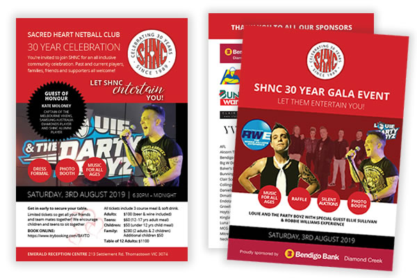 SHNC A5 Invitation & Gala Booklet